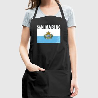 San Marino Distressed Flag Patriotic Original - Adjustable Apron