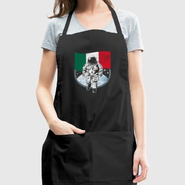 Astronaut moon Mexico flag gift idea - Adjustable Apron