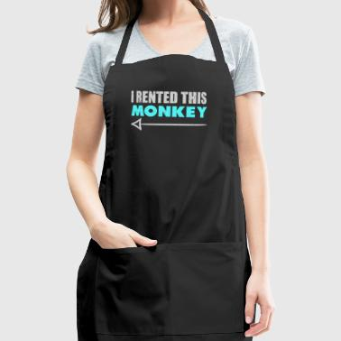 I Rented This Monkey With Arrow Funny Redneck - Adjustable Apron