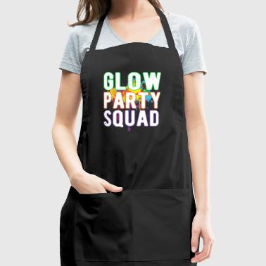 Glow Party Squad Paint Colorful Cool Glow Party - Adjustable Apron