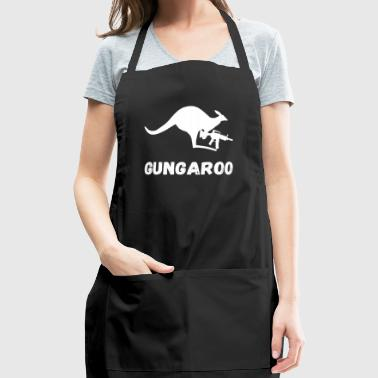 Funny Gun Kangaroo Australia Safari Gifts - Adjustable Apron