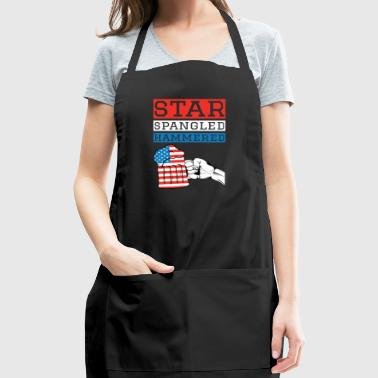 Star Spangled Hammered 4th Of July Drinking Shirt - Adjustable Apron