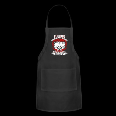 Plumber Using A High School Diploma T Shirt - Adjustable Apron