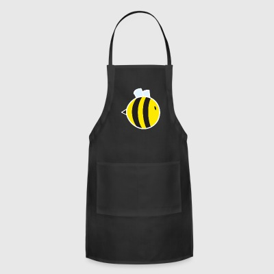 Regular Bee with White Outline - Adjustable Apron
