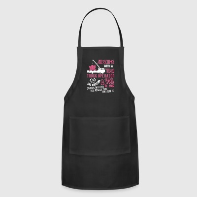 Arguing With A Tow Truck Operator T Shirt - Adjustable Apron