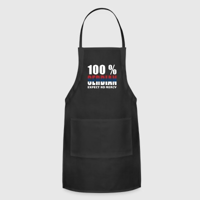100 % SERBIAN - EXPECT NO MERCY - Adjustable Apron