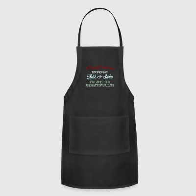 Family Tradition Bring Santa Together Beautifully - Adjustable Apron