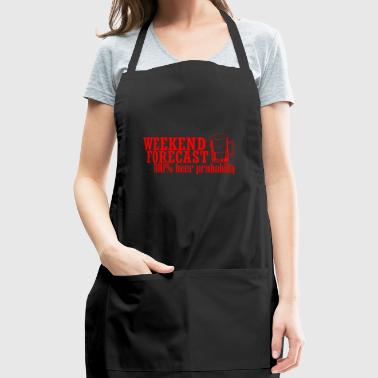 GIFT - WEEKEND FORECAST RED - Adjustable Apron