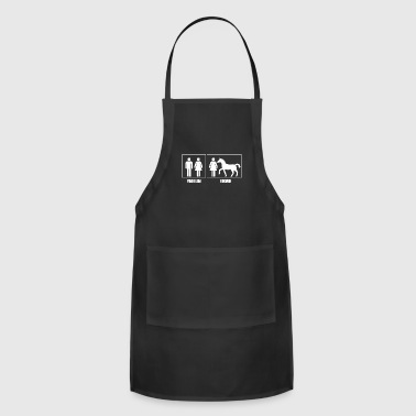 T-Shirt Horse Owner funny single Design PRESENT - Adjustable Apron