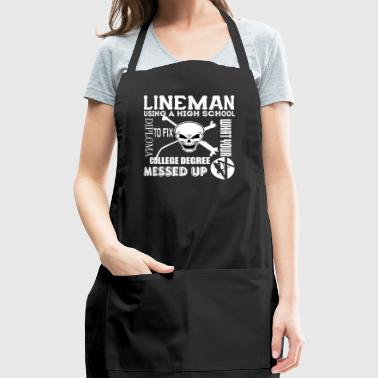 Using A High School Diploma T Shirt - Adjustable Apron
