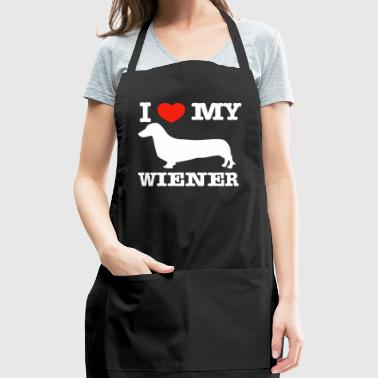 I love my Wiener - Adjustable Apron