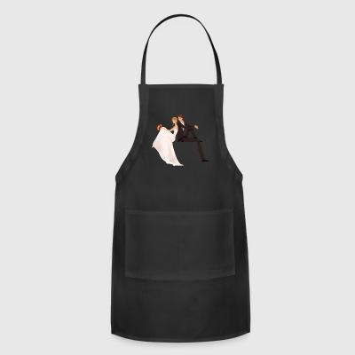 cute couple wedding - Adjustable Apron