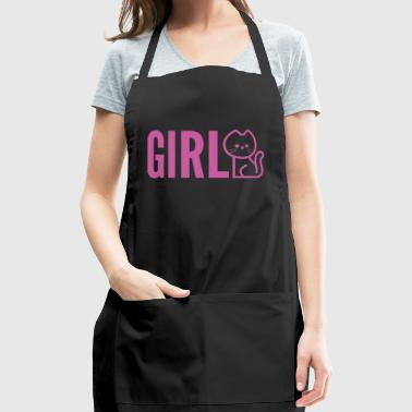 Baby Girl Pink Cat - Adjustable Apron