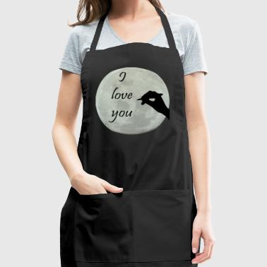 I love you moonf - Adjustable Apron
