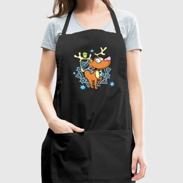 Funny Reindeer with Owl - Adjustable Apron