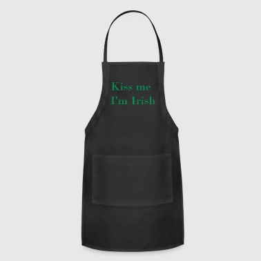 Kiss me i m irish - Adjustable Apron