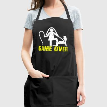 Funny Game Over Marriage T-shirt - Adjustable Apron