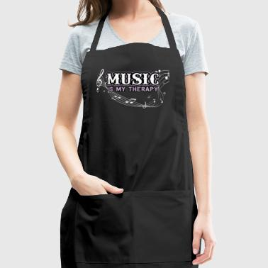 Music is my therapy - Adjustable Apron