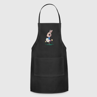 Sketched Easter Bunny, Cute Bunny Easter Bunny - Adjustable Apron
