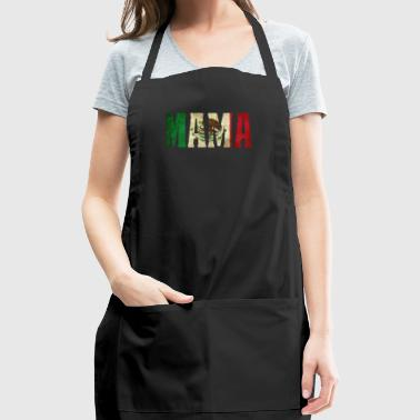 Cool Mama Gift Mexican Shirt Mexican Flag Shirt for Mexican Pride Vintage Design - Adjustable Apron