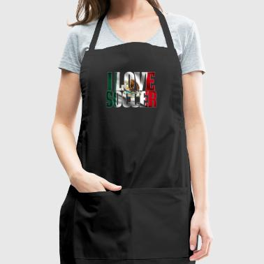 Cool Mexico Soccer Shirt Mexican Flag - Adjustable Apron