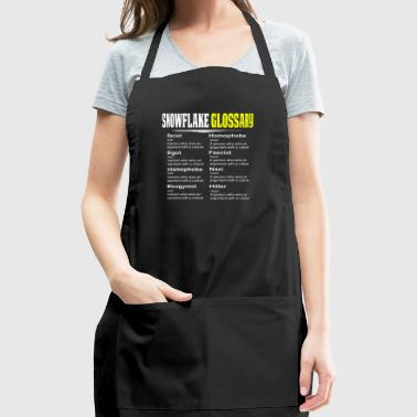 Funny Conservative Shirt Snowflake Glossary - Adjustable Apron