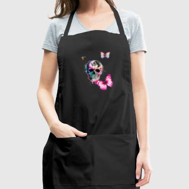 horror and colorful butterfly - Adjustable Apron