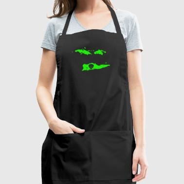 UFO Abduction Cool Aliens Green Alien US Virgin Islands - Adjustable Apron