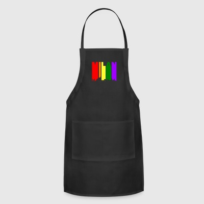 Milan Italy Skyline Rainbow LGBT Gay Pride - Adjustable Apron