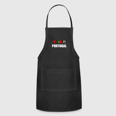Portugal Football Portuguese Soccer T-shirt - Adjustable Apron