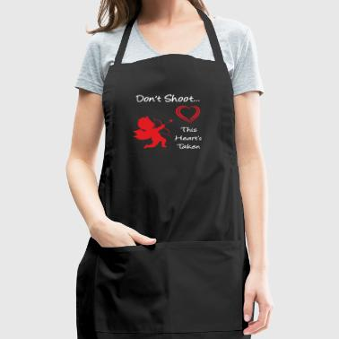 Don't Shoot, This Heart's Taken - Adjustable Apron