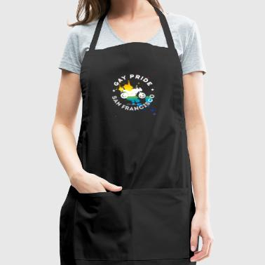 Lbgt Gay Pride bike Rainbow Splash Demo csd United - Adjustable Apron