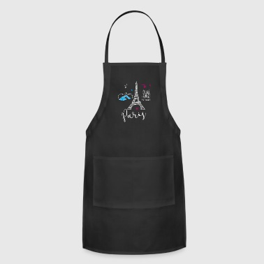 paris france Europe Trip Tourist Eiffel Tower eu - Adjustable Apron