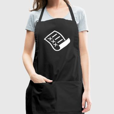 A Sheet Of Paper With A Checklist - Adjustable Apron