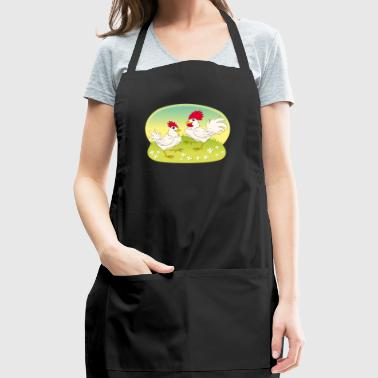 Rooster chicken cock Domestic bird poultry pet art - Adjustable Apron