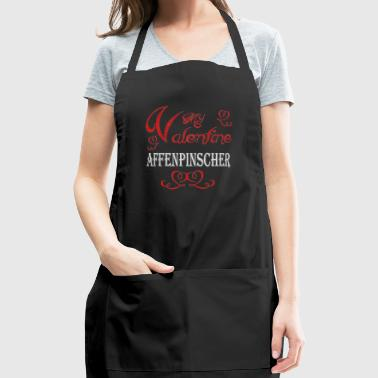 A romantic A romantic Valentine with my Affenpinsc - Adjustable Apron