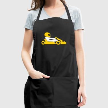 A Racer With Helmet And Car - Adjustable Apron