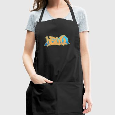 head_graffiti_blue_back - Adjustable Apron