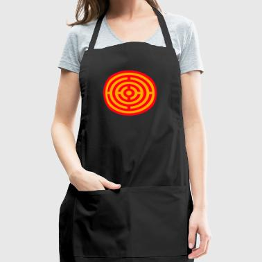 Red and Yellow Target Labyrinth - Adjustable Apron