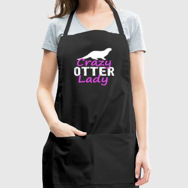 crazy otter lady - Adjustable Apron