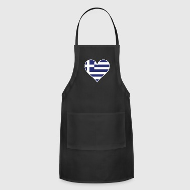 Greek Flag Heart - Adjustable Apron