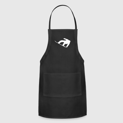 Snowboarder Silhouette Snowboarding - Adjustable Apron