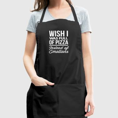 Pizza instead of emotions - Adjustable Apron