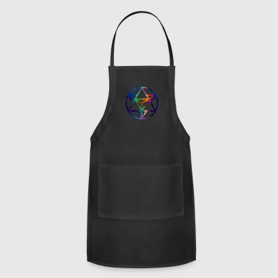 Fractal Sacred Geometry Star Tetrahedro Enlighten - Adjustable Apron
