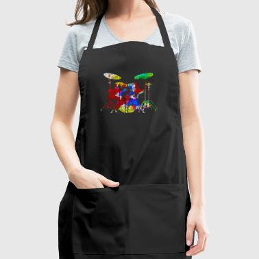 Funny Drum Set Shirt - Adjustable Apron