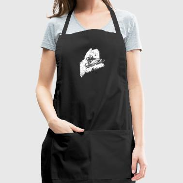 Snowmobile Racing Shirt Maine Snowmobile Machine - Adjustable Apron