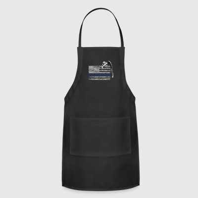 Police Thin Blue Line Guardian Angel - Adjustable Apron