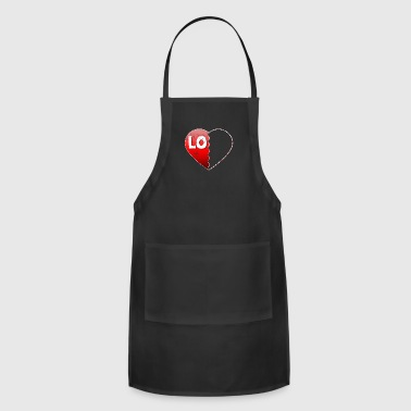 Valentine Couple Love LO Valentines Day Gifts For Couples - Adjustable Apron