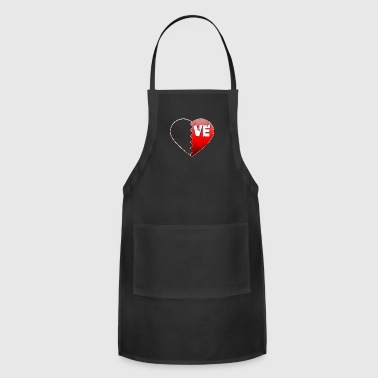 Valentine Couple Love VE Valentines Day Gifts For Couples - Adjustable Apron