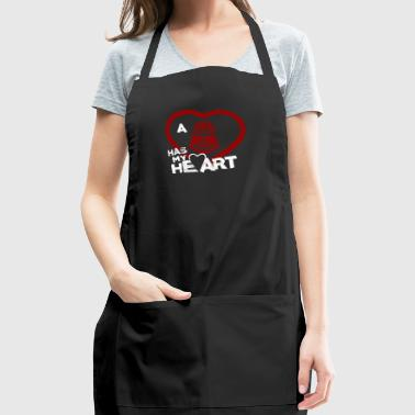 Be My Valentine Border Patrol Has My Heart - Adjustable Apron